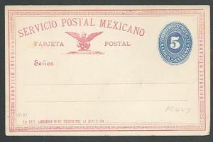 MEXICO Early 5c postcard unused............................................66156