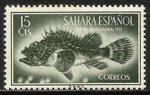 Spanish Sahara 1953 Scott# 70 MH (gum disturbance)