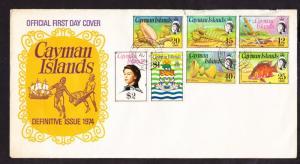 O) 1974 CAYMAN ISLANDS, QUEEN ELIZABETH II, OBJECTS OF A KIN