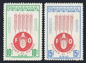 Panama C282-C283 blocks/4,MLH/MNH.Michel 647-648. FAO 1963.Freedom from Hunger.