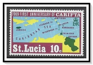 St Lucia #250 Carifta Issue MNH