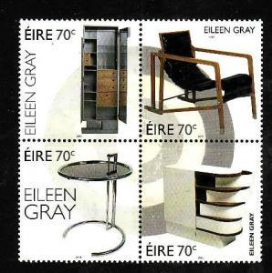 Ireland-Sc#2088a-unused NH set-Eileen Gray Furniture-2015-