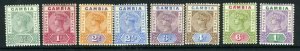 GAMBIA-1898-1902 A mounted mint set to 1/-, hinge remainders Sg 37-44