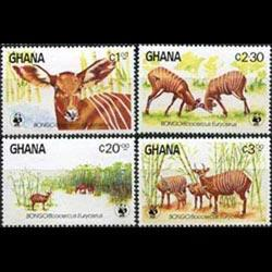 GHANA 1984 - Scott# 927-30 Antelopes Set of 4 LH