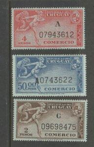 Uruguay Comercio revenue stamp 5-26-141- MNH GUM Scarce as mnh Thomas de la rue