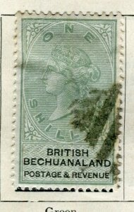 BECHUANALAND; 1887 early classic QV issue fine used 1s. value
