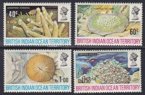 British Indian Ocean Territory # 44-47, Corals, NH, 1/2 Cat