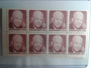 SCOTT # 1395 A PANE EISENHOWER GEM MINT NEVER HINGED !! 1971 AMAZING !!!