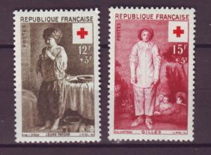 J15156 JLstamps 1956 france set mh #b309-10 red cross