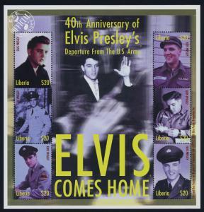 Liberia MI 2915a MNH Elvis Presley Elvis Comes Home