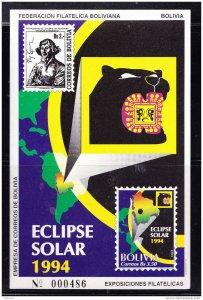 RO) 1994 BOLIVIA, SOLAR ECLIPSE -ASTRONOMY- POLISH ASTRONOMER NICOLAS COPERNICO
