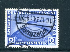 Germany #C44  Chicago Zeppelin issue used VF