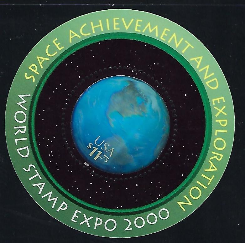 Catalog #3412 Landing on the Moon Souvenir Sheet Space Achievement & Exploration