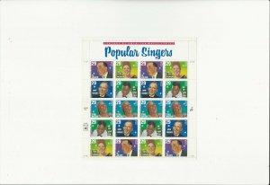 US Stamps/Postage/Sheet Sc #2853a Popular Singers MNH F-VF OG FV 5.80