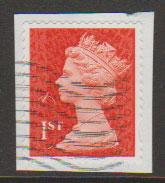 GB QE II Machin SG U2968a - 1st vermillion  - date code M12L - Source  B