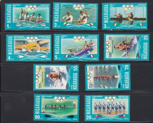 Nicaragua # 1022-1027, C902-905, Olympic Winners, Hinged, 1/3 Cat.