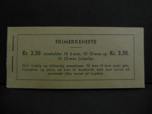 NORWAY : 1940-49. Scott #196 Complete Booklet of Panes of 10. Catalog $125.00+