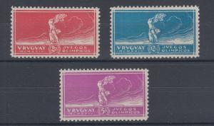 Uruguay Sc 282-284 MNH. 1924 Olympics, cplt set, VF.