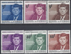 Congo Democratic Republic #514-519 1964 CTO H Set of 6