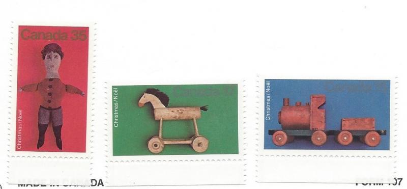 Canada, 839-41, Antigue Toys, Singles, MNH