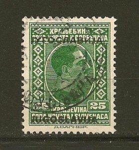 Yugoslavia 87 King Alexander Overprint Used