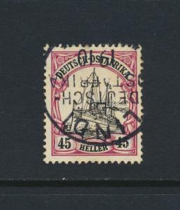 GERMAN EAST AFRICA 1908 45h, VF USED Sc#37 (SEE BELOW)