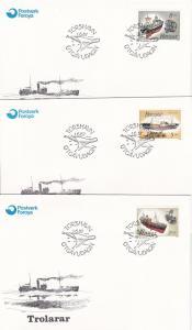 Faroe Islands # 158-161, Fishing Trawlers, FDC