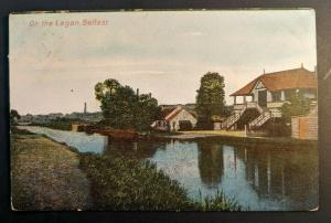 Vintage 1906 on the Lagan Belfast to Canada Ireland Real Picture Postcard Cover