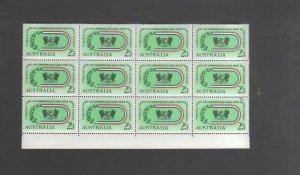 Australian Stamps Mint 1962 2/3 Commonwealth Games MUH block 12 Perth Multicoure