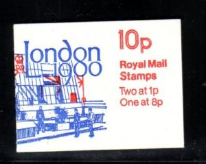 Great Britain Sc BK227 1979 MH64b London 1980 booklet mint NH