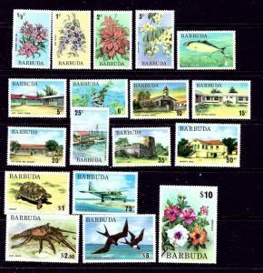 Barbuda 170-87 MNH 1974-75 Definitive Set