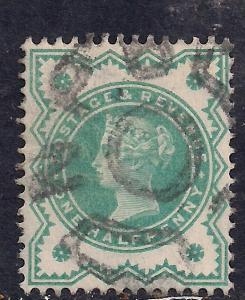 GB 1900 QV 1/2d Bluish green colour change SG 213 ( D196 )
