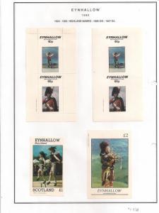 SCOTLAND - EYNHALLOW - 1982 - Highland Games-Perf,Imp 2v, Souv, D/L Sheets - MLH
