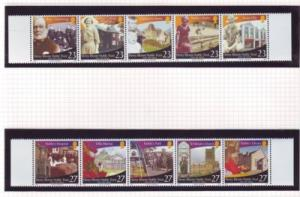 Isle of Man Sc 1006-7 2003 Noble Trust stamp set mint NH