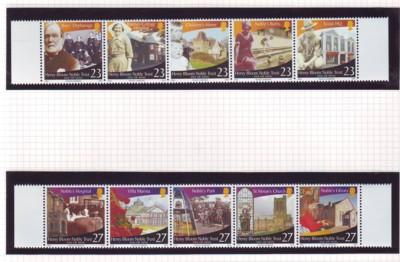 Isle of Man Sc 1006-7 2003 Noble Trust stamp set mint NH
