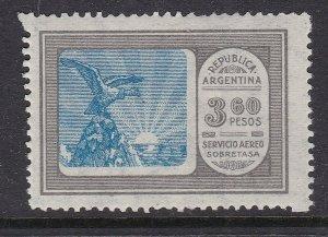 ARGENTINA ^^^^^^  sc# C16   mint  LH  KEY AIRPOST  ( 3,60 PESOS  )$$@ ta1405arg