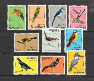 BIRDS - NICARAGUA #C766-75   MNH