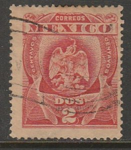 MEXICO 295, 2¢ EAGLE COAT OF ARMS. USED. VF. (187)