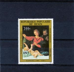 Madonna by Raphael set with New value Ovpt.Perforated Mint (NH)
