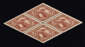 Costa Rica Stamp 2c Airmail Stamp MNH/OG BLK OF 4