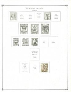 Spanish Guinea 1942-1959 M (mostly) & U Hinged on Scott International Pages