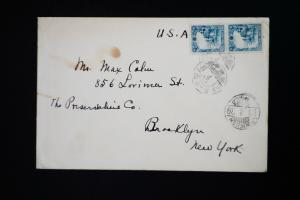 Manchukuo Stamped Cover to Brooklyn