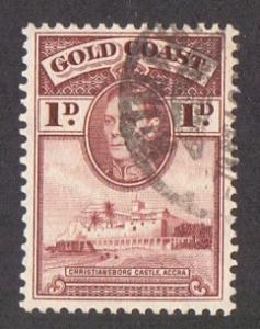 Gold Coast  1938   used  116      1 d..    #
