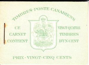 Canada Booklet Scott #BK32d War Issue French Cover