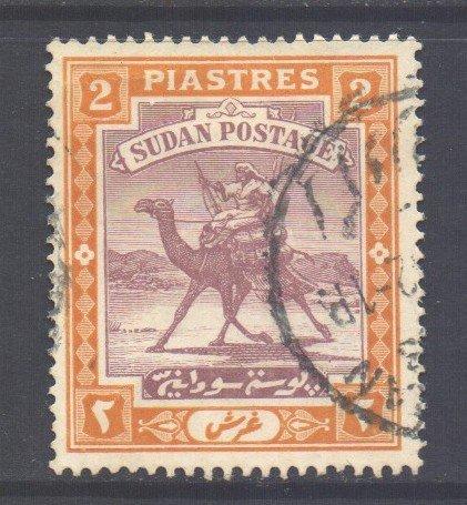 S*dan Scott 43 - SG44, 1927 Camel Post 2p used     ,    variety world stamps
