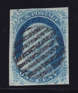 7 VF+ used neat Grid cancel with nice color cv $ 150 ! see pic !