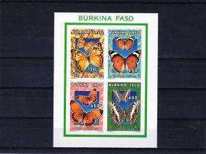 Burkina Faso 1996 Butterflies Compound Shlt.MNH Imperf