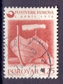 Faroe Islands  #21  1976 used  post office 125ore