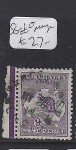 AUSTRALIA  (PP2607B)   KANGAROO 9D    SG 10  WITH JUBILEE LINE   VFU