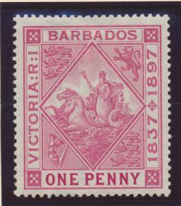 Barbados Stamp Scott #83, Mint Hinged - Free U.S. Shipping, Free Worldwide Sh...